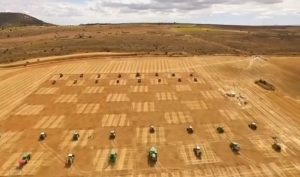 World's biggest chessboard match played out with real tractors as pieces