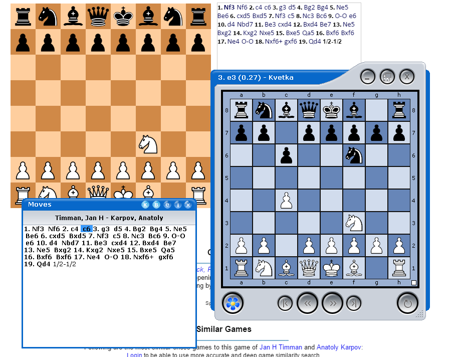 Kvetka: view, analyze online chess games | Chess Rising