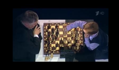 Mikhail Osipov, aged 3.. Vs world champion Anatoly Karpov