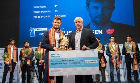 Magnus Carlsen beat his own record to win the Tata Steel Chess India