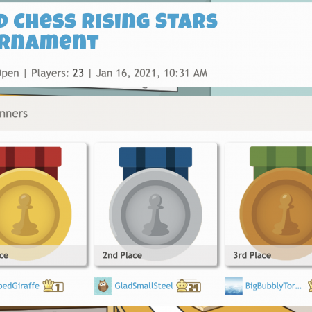 Chess Tournaments ONLINE