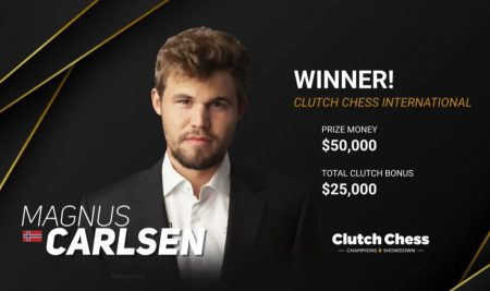 Carlsen wins Clutch Chess